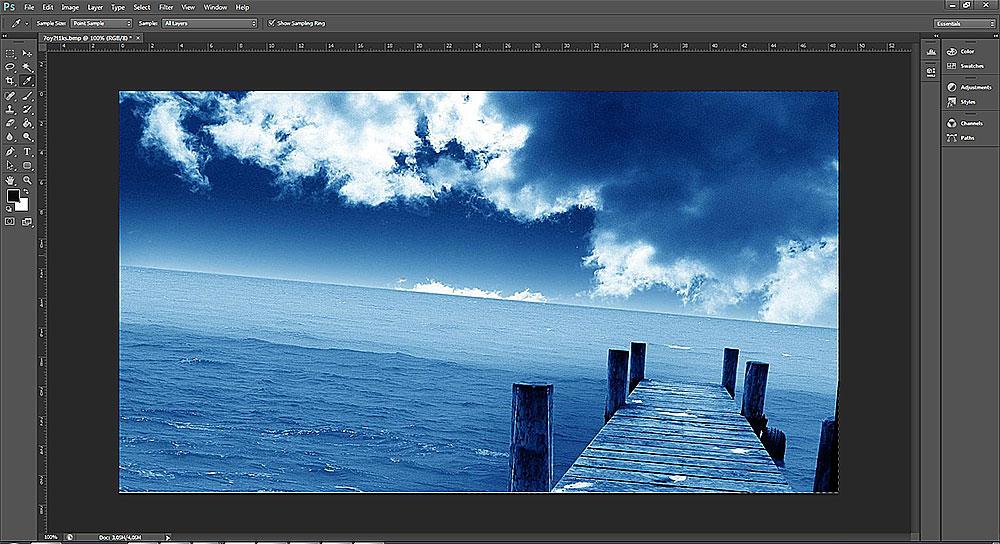 Como corrigir horizonte no Photoshop 001