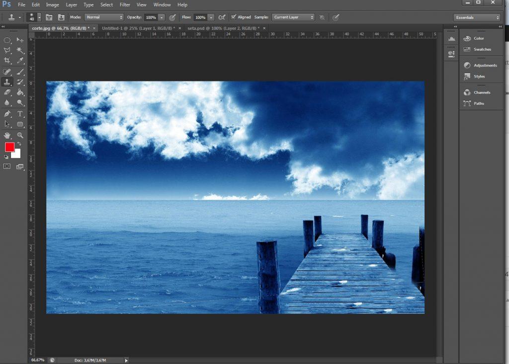Como corrigir horizonte no Photoshop 012