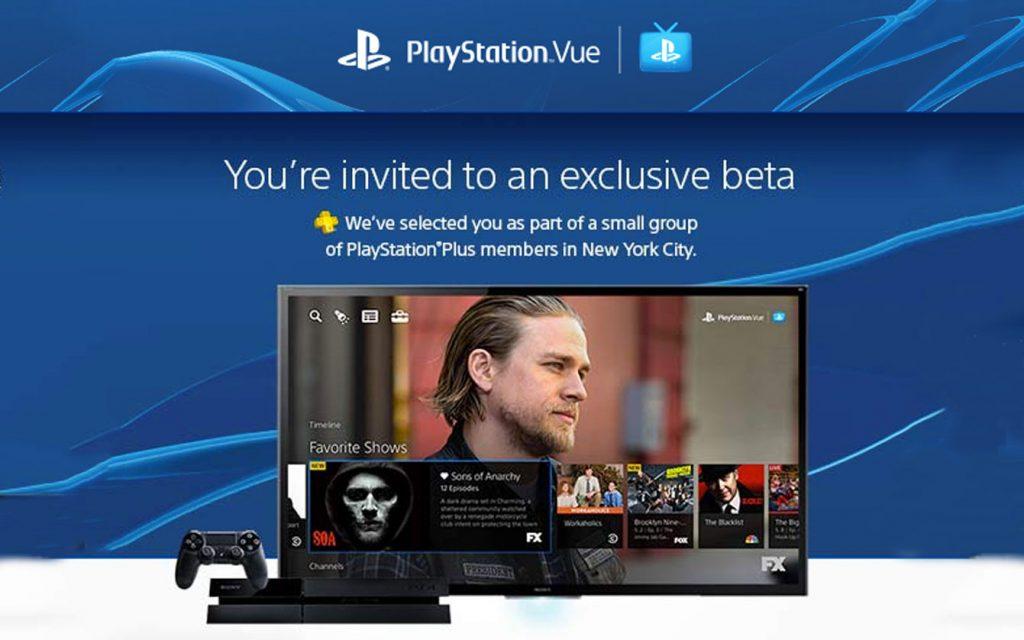 Convite para Sony Playstation Vue