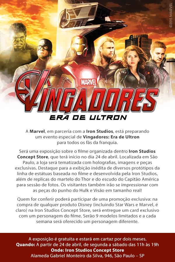 convite dos Vingadores 2: Era de Ultron