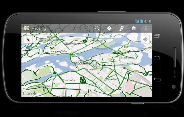 Google Maps com Rotas para Ciclistas