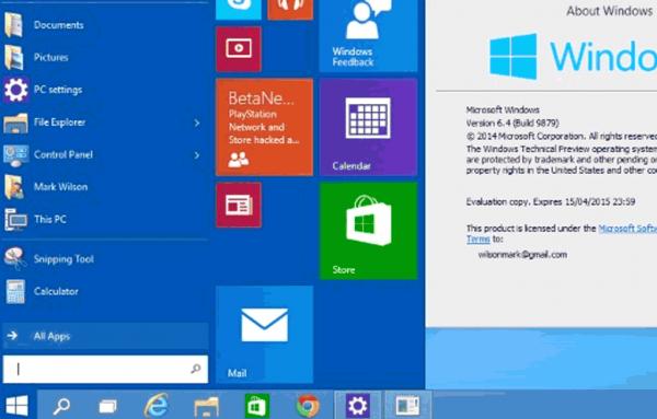 Windows 10 RTM.