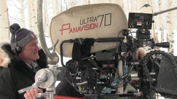 Quentin Tarantino com sua câmera de 70mm