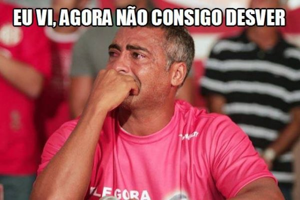 meme Romário chorando