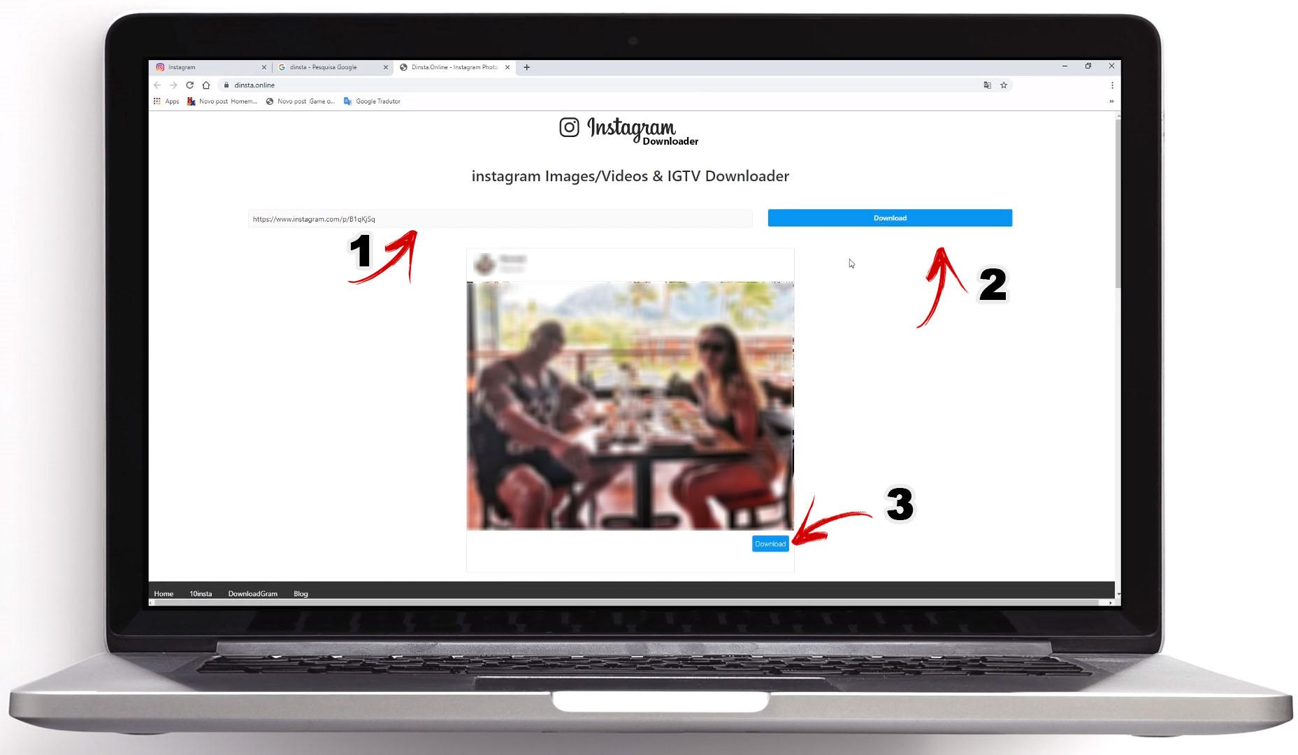 Como salvar as imagens do Instagram usando o Computador passo 02