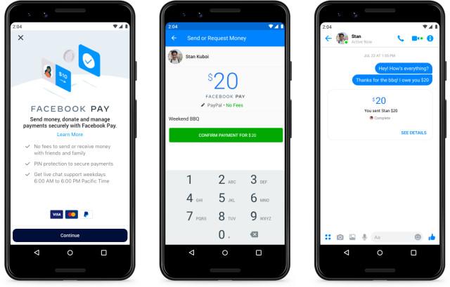 Funcionamento do Facebook Pay