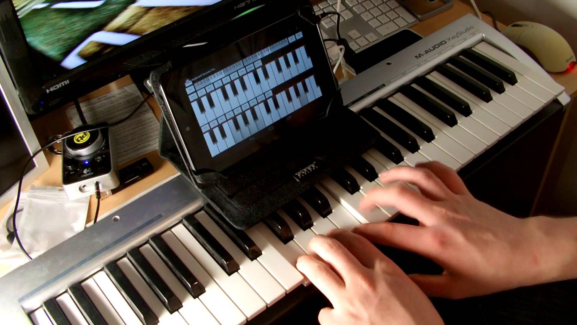 Conectar um instrumento MIDI com um cabo OTG