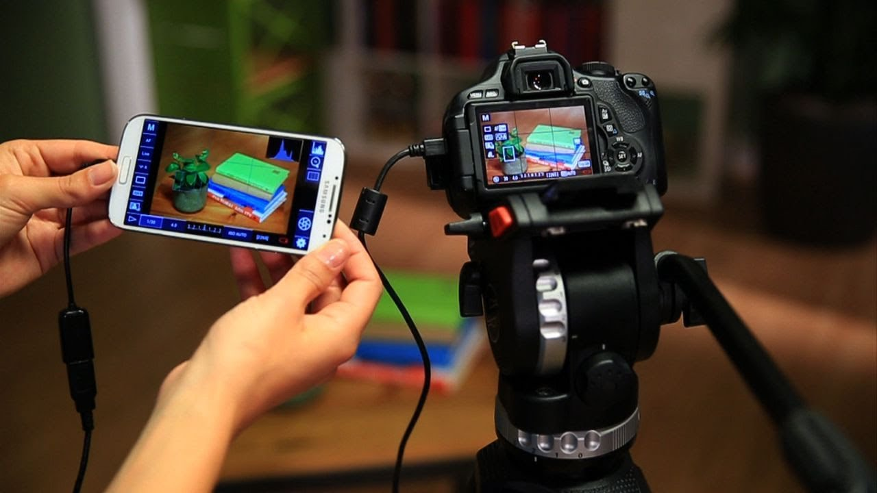 Controlar uma máquina fotográfica DSLR com um cabo OTG