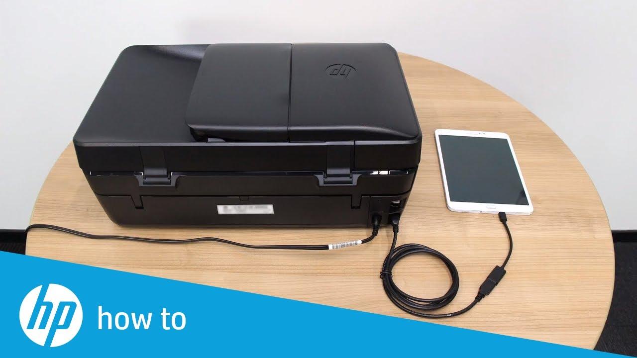 Imprimindo em uma impressora HP através do cabo OTG