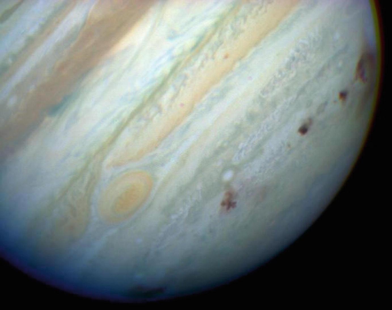 Local do impacto em Júpiter