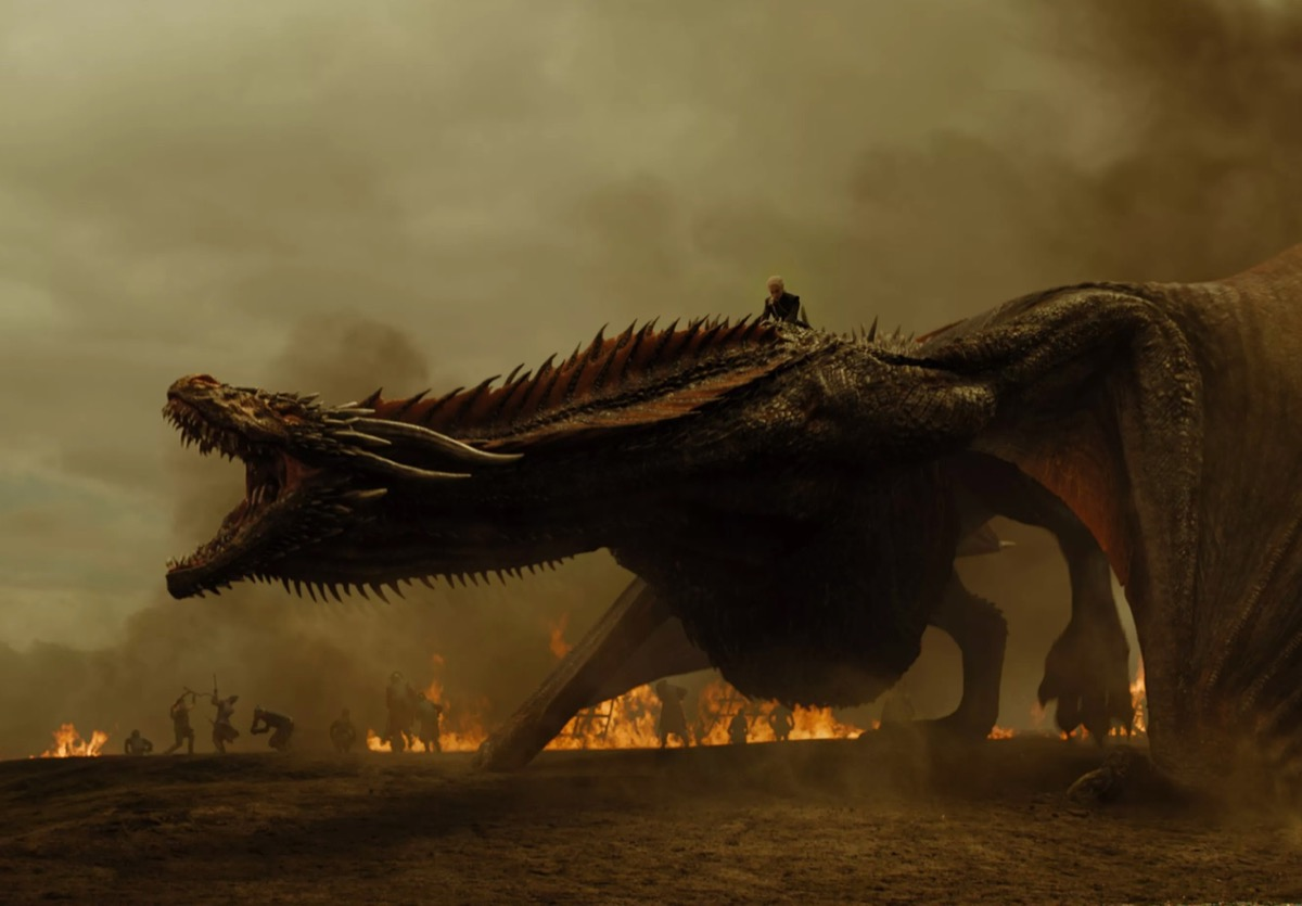 Dragões de Game of Thrones